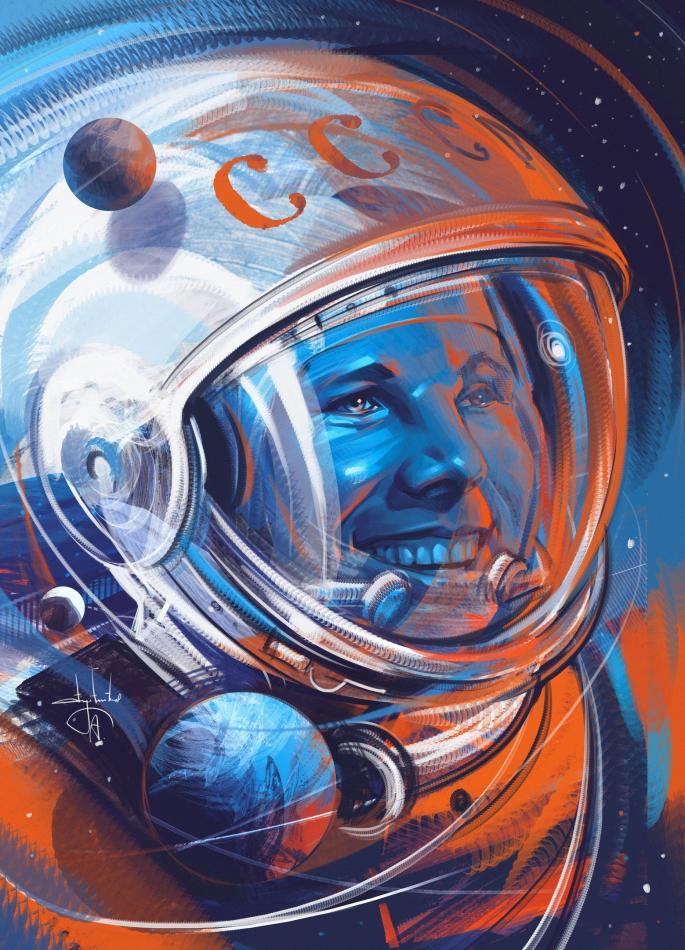 С юбилеем полёта человека в космос!