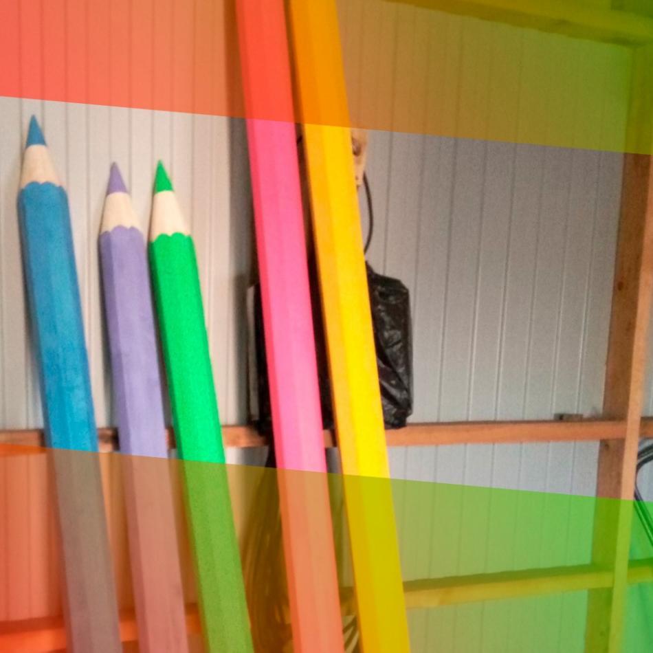 Школьный двор в ярких красках!
